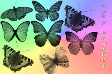 butterfly brushes for psp