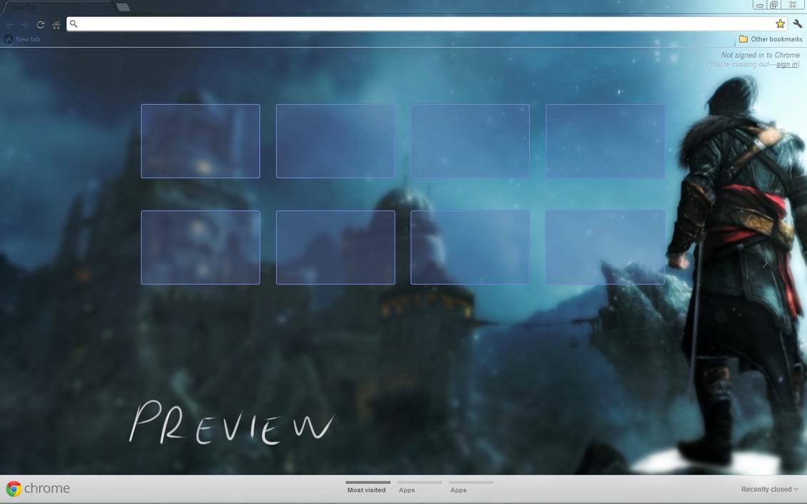Google chrome themes video games - Assassin S Creed Revelations Chrome Theme By Birdgirl69