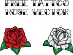 FREE TATTOO ROSE VECTOR
