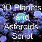 3DPlanets and Asteroids Script
