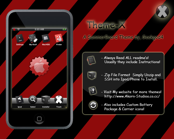 Theme X for Ipod Touch by GeekGod4 on DeviantArt