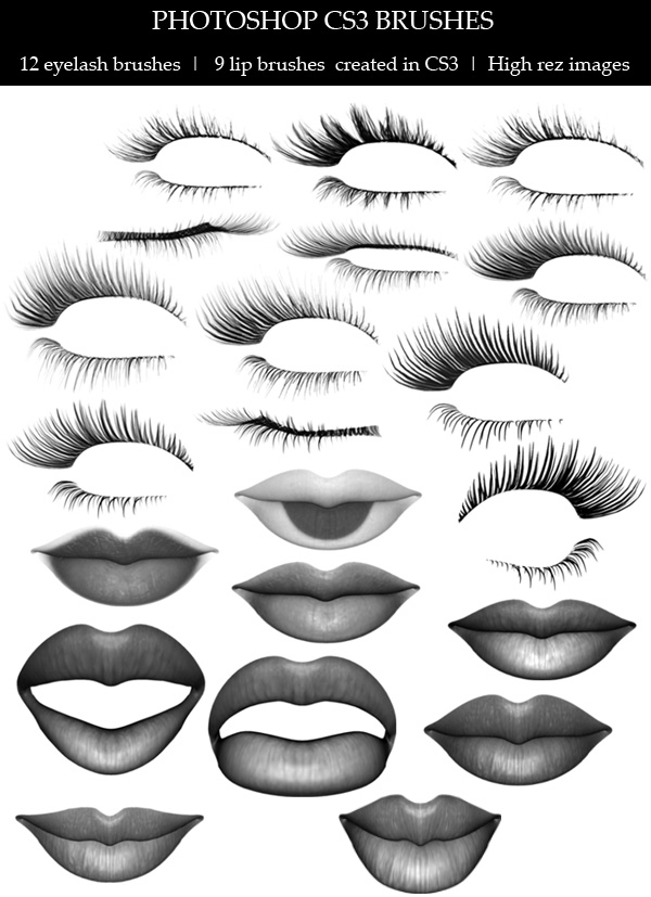 Lips and Lashes brushes