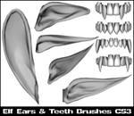 Elf ear and teeth brushes CS3