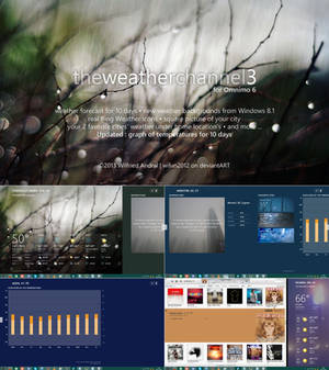 The Weather Channel Hub 3 for Omnimo 6 (Rainmeter)
