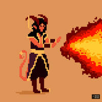 Tair, a tiefling sorcerer by waterwitchrpg