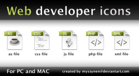 web developpeur icones