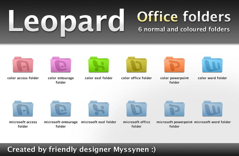 Office Leopad folders