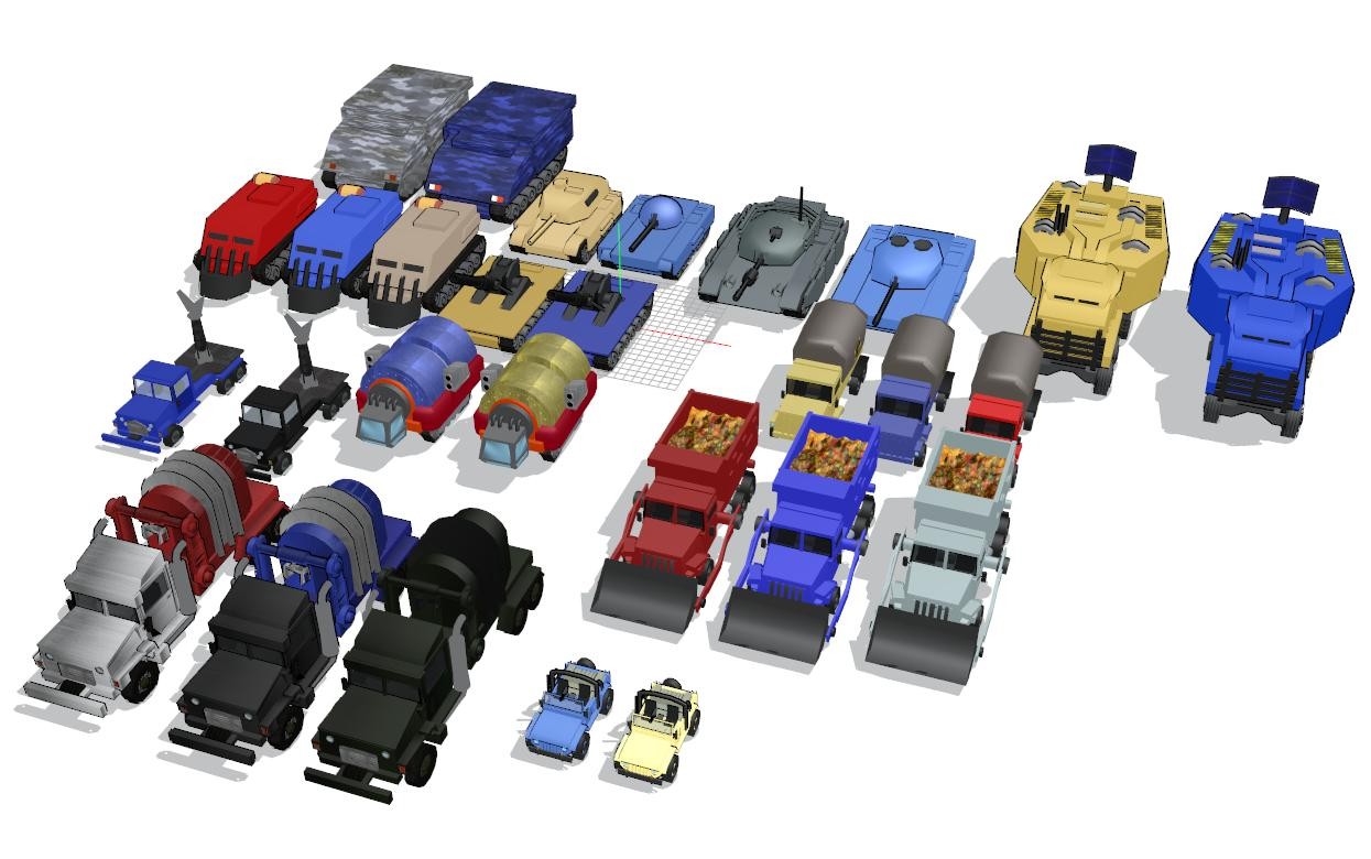 [MMD] Red Alert 1 Allied Land Vehicles pack DL by Metalmiku2
