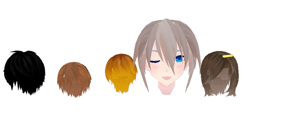 MMD-Mekaku City Actors Male Hair Pack by OnnelParamanandini39