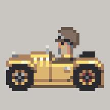 Spinning Pixel Car