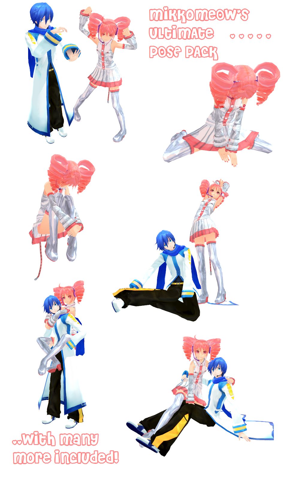 DeviantArt: More Like MMD Kissing Poses Pack Dl by