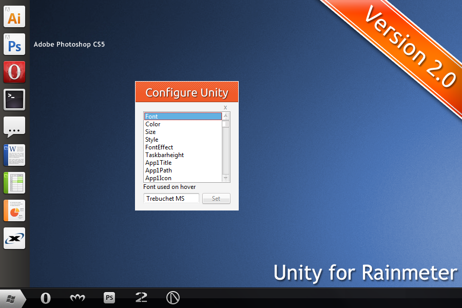 Unity for Rainmeter V2 0 - Rainmeter Forums