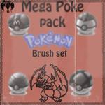 the mega poke pack brush set