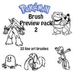 Pokemon Brushes Preview pack 2