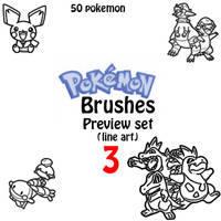Pokemon Brushes Preview pack 3 by Desicat674
