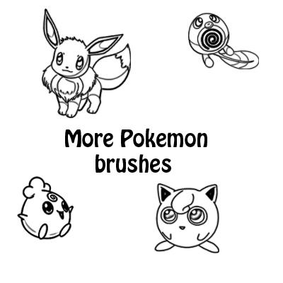 More Pokemon brushes