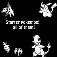 Pokemon starter pack brushes by Desicat674
