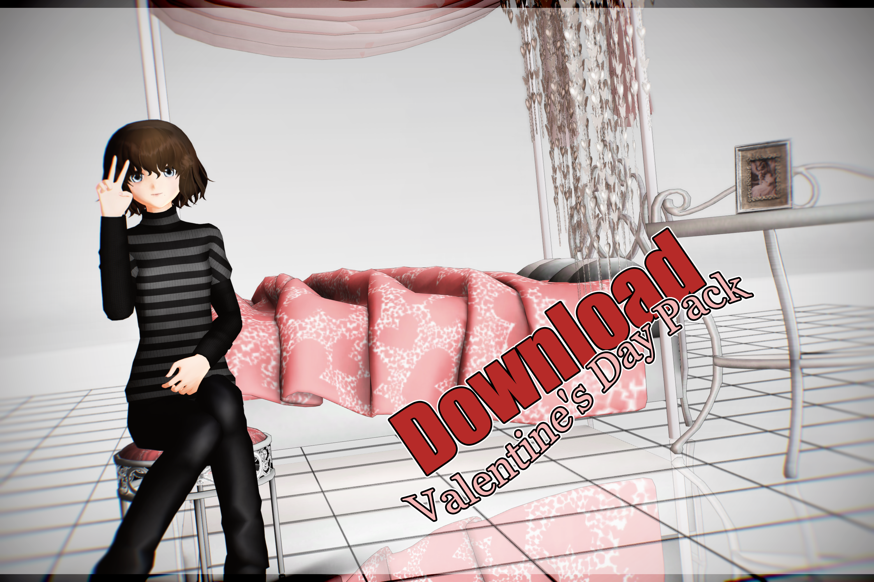 MMD Valentine's Day pack download by NanaSui
