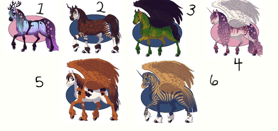 Fantasy Horse Maker Adoptables #1 by kitkatkitlyn12345 on