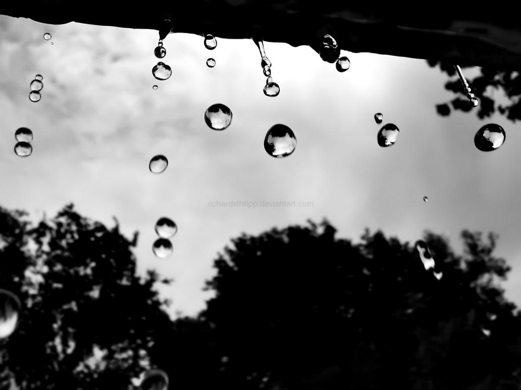 Raindrops Wallpaper by richardxthripp