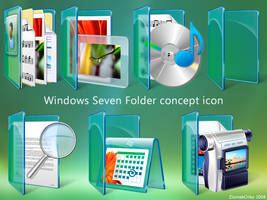 Win Sewen Folder concept icon by ziomekorko
