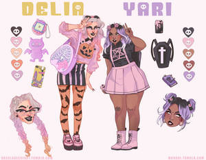 [CLOSED] Adoptable Collab Auction : Delia and Yari