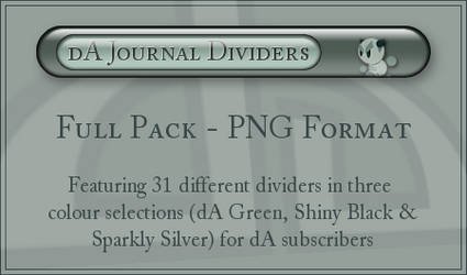 dA Journal Dividers - PNG
