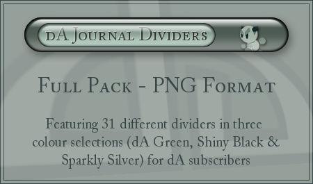 dA Journal Dividers - PNG