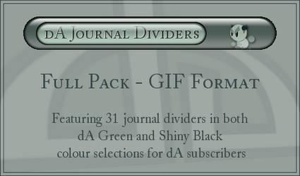 dA Journal Dividers - GIFs by ClaireJones