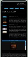 Black + Blue CSS Layout