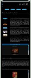 Black + Blue CSS Layout by ClaireJones