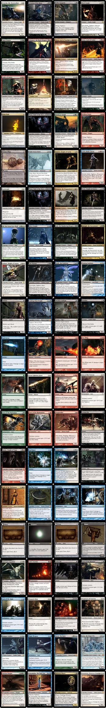Dark Souls  (I+II) Magic Card Prototypes by skywalker-96