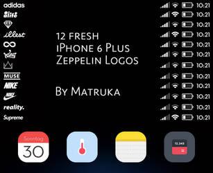 Fresh iPhone 6 Plus Zeppelin Logos by Matruka