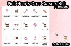 Kawaii Cute Pink Heart Oreo Cursors Cursores by SweetPinkGalaxy