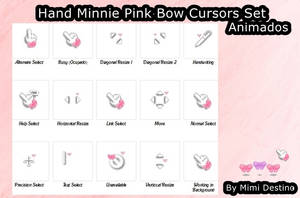 Cute Hand Minnie Pink Bow Cursors Cursores by SweetPinkGalaxy