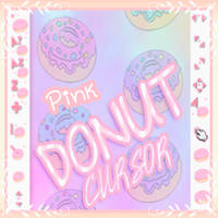 Pink Donut Cursors by SweetPinkGalaxy