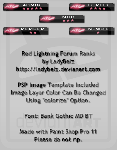 BMB2015 Lightning Forum Ranks by LadyBelz