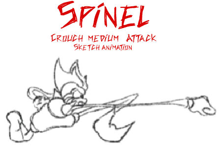 Crouch Medium Attack (Spinel MUGEN)