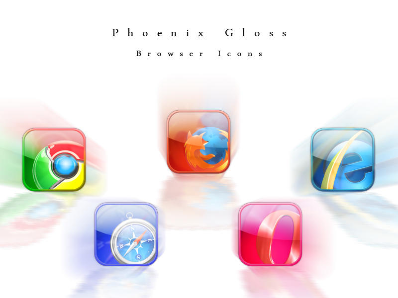 Phoenix Gloss Browser Icons by Phoenix-Pyre