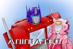 Optimus Prime and Elita-1 -Animated IMAGE-