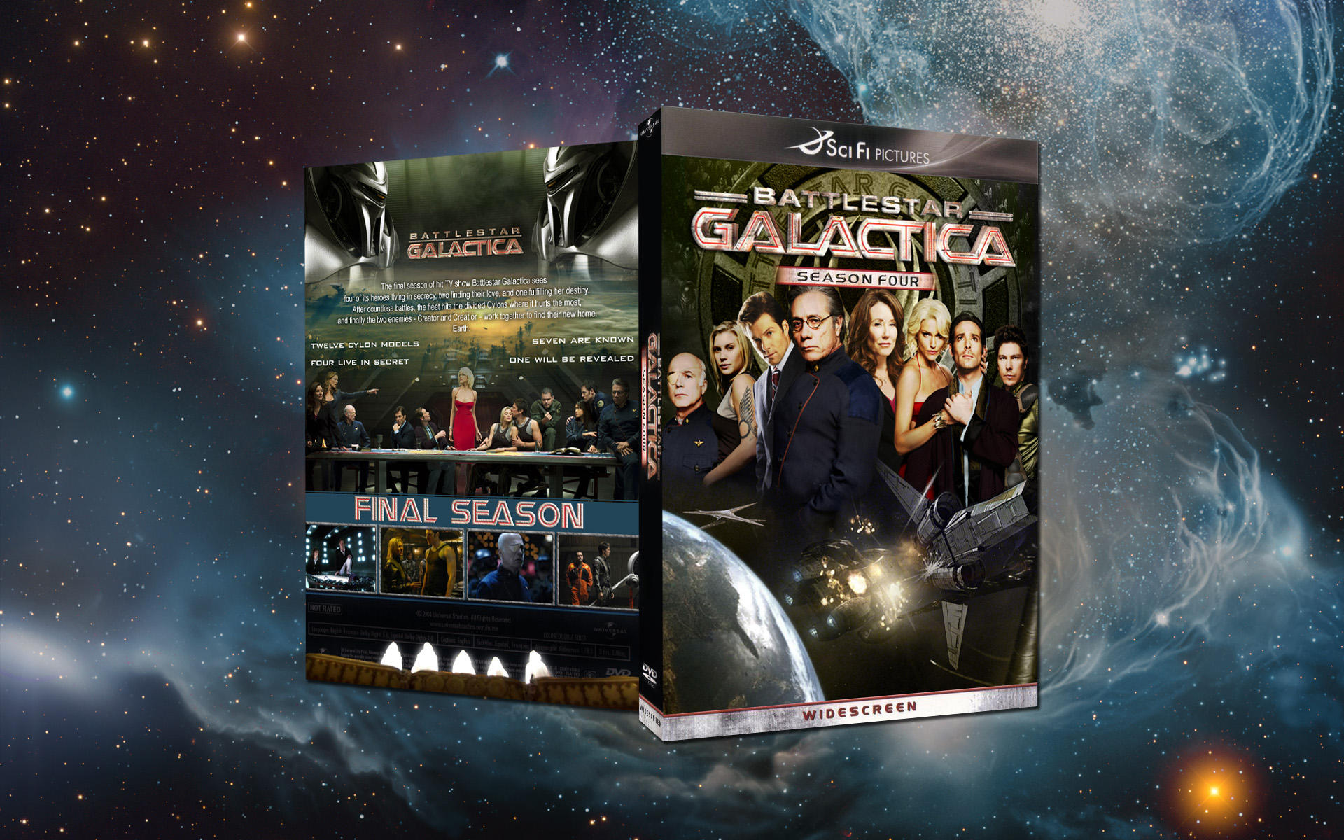 Battlestar Galactica 4 dvd by nuke-vizard