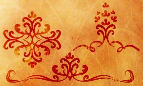 Decorative swirls brush