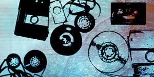 Music Tape Brushes by ki-cek