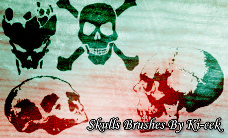 Skulls Brushes by ki-cek