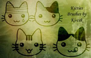 Kitties Brushes by ki-cek
