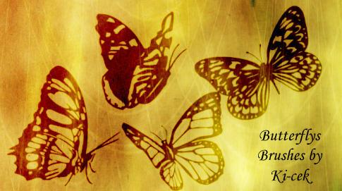 Butterflys Brushes by ki-cek