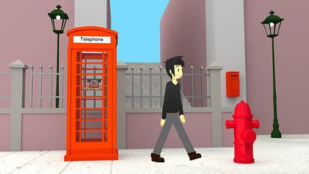 Spaguetti walk en la calle by orejo