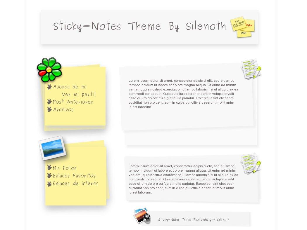 Sticky-Notes Theme