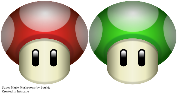 Super Mario Mushrooms by Botskiz