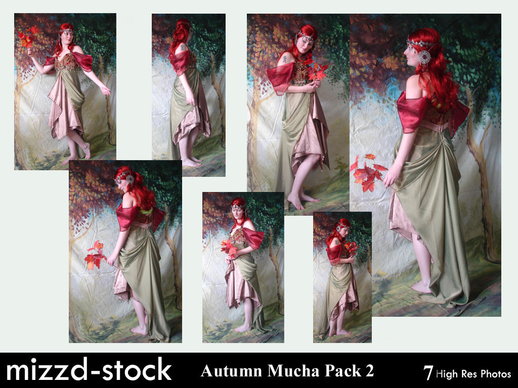 Autumn Mucha Pack 2 by mizzd-stock